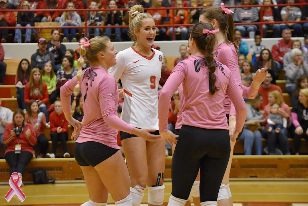 Big Ten: Buckeyes Sweep Spartans; #14 Michigan Rallies to Win in Four