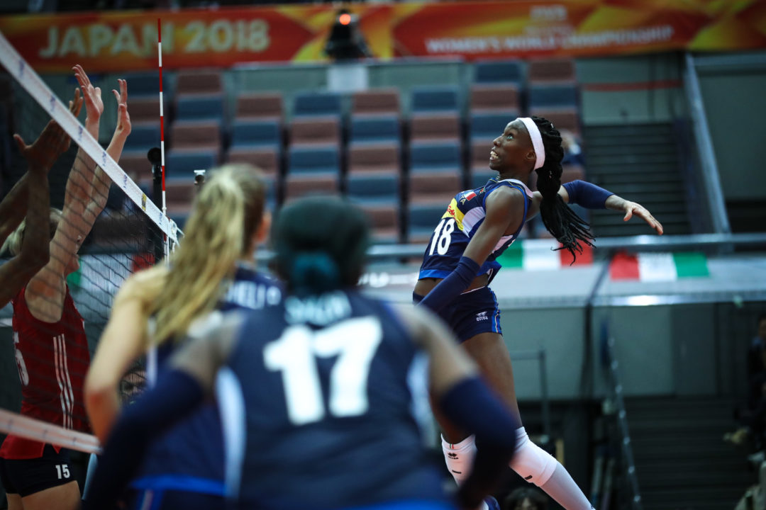Italy's Egonu Leads All Scorers Heading into #FIVBWomensWCH Final Six