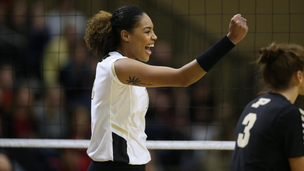 Career Night by Atkinson Lifts Purdue Past Penn State in 5 for First Win in Happy Valley Since 1982