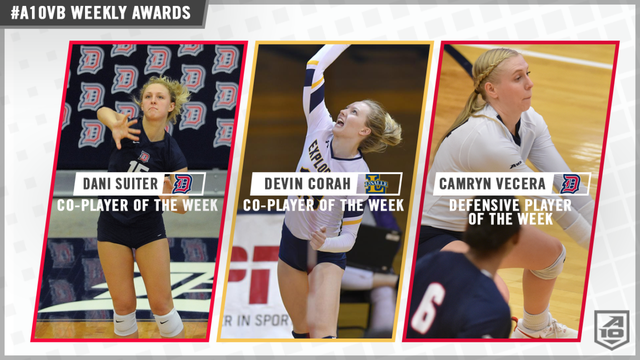 Suiter, Corah, Vecera, Niu Pick Up A-10 Weekly Honors