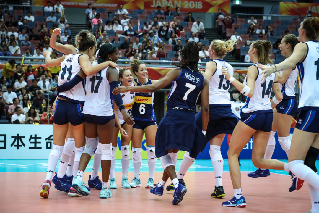 Pool F: #7 Italy, #1 China Qualify for 3rd Round of FIVB Worlds