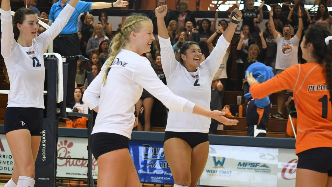 WCC: Top 3 Volleyball Teams Sweep Saturday