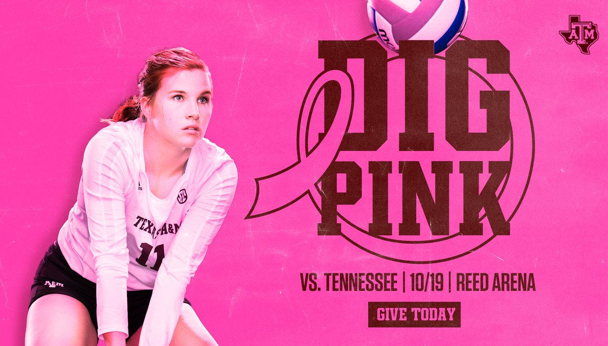 Texas A&M Set for Dig Pink Match on Oct. 19