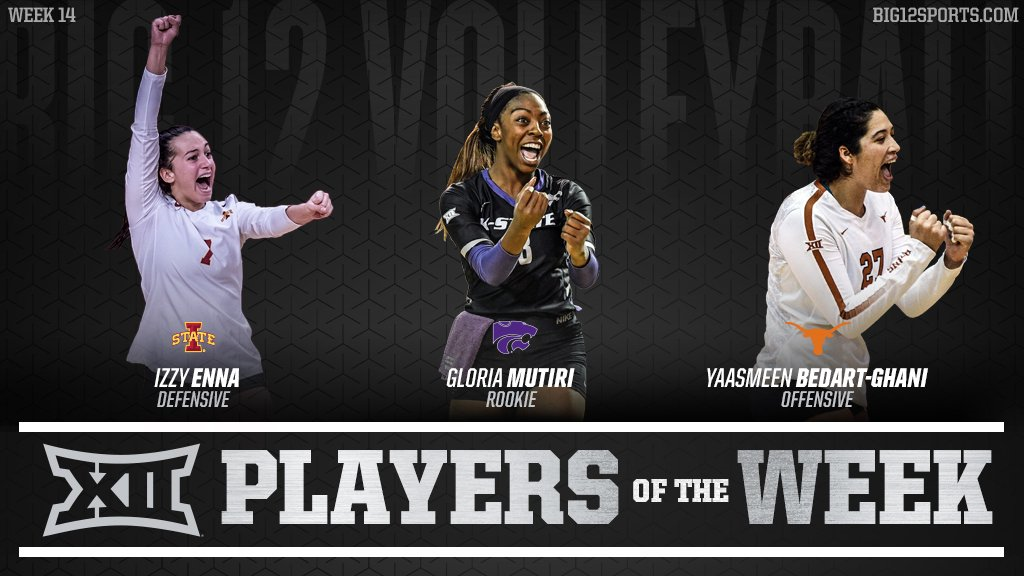 Big 12 Names Bedart-Ghani, Enna, Mutiri as Final 2018 Players of the Week