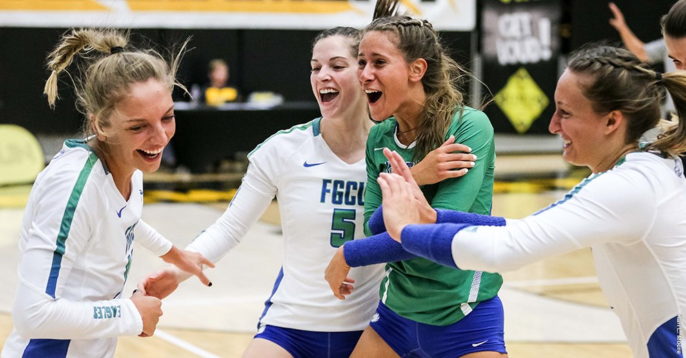 FGCU Begins First NCAA Run with 5-Set Upset of #13 Seed UCF