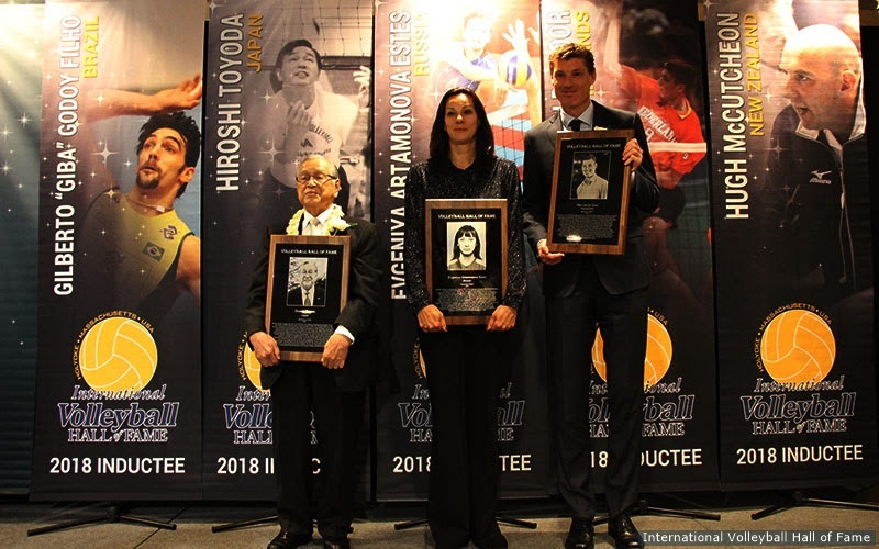 Five Legends Enshrined Into International Volleyball Hall of Fame
