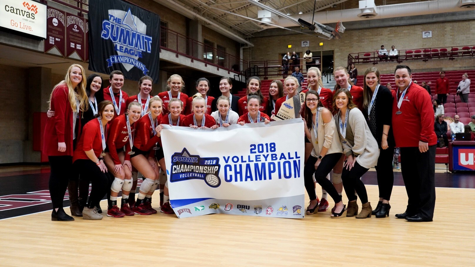 South Dakota Rallies Past Top-Seeded Denver for Summit League Tourney Crown