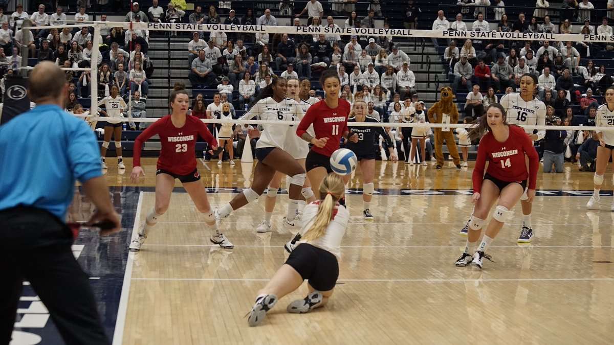 Wisconsin Earns First Win at Penn State in 16 Years with 5-Setter