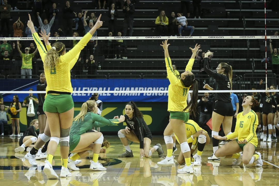 Oregon Earns First Sweet 16 Berth Since 2014 with 5-Set Win Over Baylor